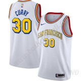 Canotte Basket Bambino Golden State Warriors Stephen Curry 30# Bianca Finished Hardwood Classics Swingman