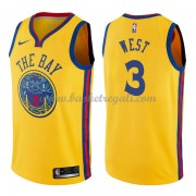 Maglie NBA Golden State Warriors 2018 Canotte David West 3# City Edition..