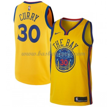 Maglie NBA Golden State Warriors 2018 Canotte Stephen Curry 30# City Edition