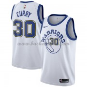 Maglie NBA Golden State Warriors 2018 Canotte Stephen Curry 30# White Hardwood Classics..