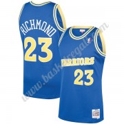 Maglie NBA Golden State Warriors 1990-91 Mitch Richmond 23# Blu Hardwood Classics Canotte Swingman..