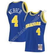 Maglie NBA Golden State Warriors 1993-94 Chris Webber 4# Blu Hardwood Classics Canotte Swingman..