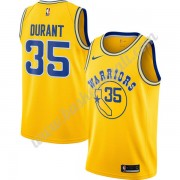Maglie NBA Golden State Warriors 2019-20 Kevin Durant 35# Oro Hardwood Classics Canotte Swingman..