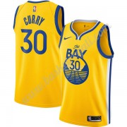 Maglie NBA Golden State Warriors 2019-20 Stephen Curry 30# Oro Finished Statement Edition Canotte Sw..