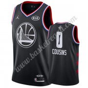Maglie Basket NBA Golden State Warriors 2019 Demarcus Cousins 0# Nero All Star Game Canotte Swingman..