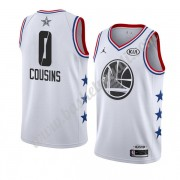 Maglie Basket NBA Golden State Warriors 2019 Demarcus Cousins 0# Bianca All Star Game Canotte Swingm..