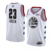Maglie Basket NBA Golden State Warriors 2019 Draymond Green 23# Bianca All Star Game Canotte Swingma..