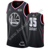 Maglie Basket NBA Golden State Warriors 2019 Kevin Durant 35# Nero All Star Game Canotte Swingman