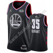Maglie Basket NBA Golden State Warriors 2019 Kevin Durant 35# Nero All Star Game Canotte Swingman..