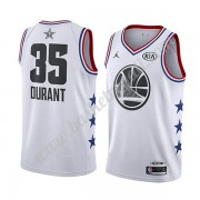 Maglie Basket NBA Golden State Warriors 2019 Kevin Durant 35# Bianca All Star Game Canotte Swingman..