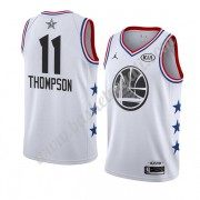Maglie Basket NBA Golden State Warriors 2019 Klay Thompson 11# Bianca All Star Game Canotte Swingman..