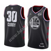 Maglie Basket NBA Golden State Warriors 2019 Stephen Curry 30# Nero All Star Game Canotte Swingman..