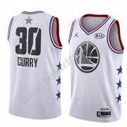 Maglie Basket NBA Golden State Warriors 2019 Stephen Curry 30# Bianca All Star Game Canotte Swingman..