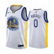 Maglie NBA Golden State Warriors 2019-20 D'Angelo Russell 0# Bianca Association Edition Canotte Swin..