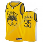 Maglie NBA Golden State Warriors 2019-20 Kevin Durant 35# Oro Earned Edition Canotte Swingman..