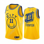 Maglie NBA Golden State Warriors 2019-20 Klay Thompson 11# Giallo Classics Edition Canotte Swingman..