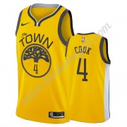 Maglie NBA Golden State Warriors 2019-20 Quinn Cook 4# Oro Earned Edition Canotte Swingman..