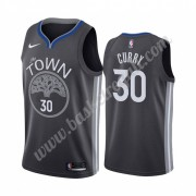 Maglie NBA Golden State Warriors 2019-20 Stephen Curry 30# Nero City Edition Canotte Swingman..
