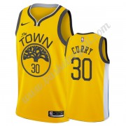 Maglie NBA Golden State Warriors 2019-20 Stephen Curry 30# Oro Earned Edition Canotte Swingman..