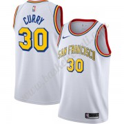 Maglie NBA Golden State Warriors Stephen Curry 30# Bianca Finished Hardwood Classics Canotte Swingma..
