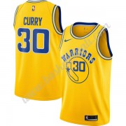 Maglie NBA Golden State Warriors 2019-20 Stephen Curry 30# Oro Hardwood Classics Canotte Swingman..
