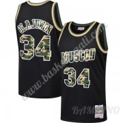Canotte Basket Bambino Houston Rockets 1993-94 Hakeem Olajuwon 34# Nero Straight Fire Camo Swingman..