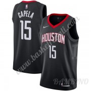 Canotte Basket Bambino Houston Rockets 2019-20 Clint Capela 15# Nero Statement Edition Swingman..