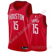 Canotte Basket Bambino Houston Rockets 2019-20 Clint Capela 15# Rosso Earned Edition Swingman..
