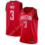 Maglie NBA Houston Rockets 2019-20 Chris Paul 3# Rosso Earned Edition Canotte Swingman..