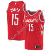 Maglie NBA Houston Rockets 2019-20 Clint Capela 15# Rosso Icon Edition Canotte Swingman..