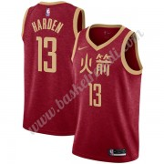 Maglie NBA Houston Rockets 2019-20 James Harden 13# Rosso City Edition Canotte Swingman..