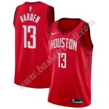 Maglie NBA Houston Rockets 2019-20 James Harden 13# Rosso Earned Edition Canotte Swingman