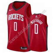 Maglie NBA Houston Rockets 2019-20 Russell Westbrook 0# Rosso Icon Edition Canotte Swingman..