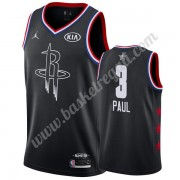 Maglie Basket NBA Houston Rockets 2019 Chris Paul 3# Nero All Star Game Canotte Swingman..