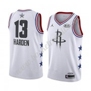 Maglie Basket NBA Houston Rockets 2019 James Harden 13# Bianca All Star Game Canotte Swingman..