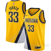 Canotte Basket Bambino Indiana Pacers 2019-20 Myles Turner 33# Oro Finished Statement Edition Swingm..