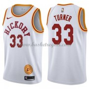 Maglie NBA Indiana Pacers 2018 Canotte Myles Turner 33# White Hardwood Classics..