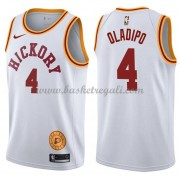 Maglie NBA Indiana Pacers 2018 Canotte Victor Oladipo 4# White Hardwood Classics..