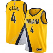 Maglie NBA Indiana Pacers 2019-20 Victor Oladipo 4# Oro Finished Statement Edition Canotte Swingman..