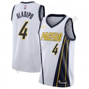 Maglie NBA Indiana Pacers 2019-20 Victor Oladipo 4# Bianca Earned Edition Canotte Swingman..