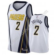 Maglie NBA Indiana Pacers 2019-20 Darren Collison 2# Bianca Earned Edition Canotte Swingman..