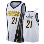 Maglie NBA Indiana Pacers 2019-20 Thaddeus Young 21# Bianca Earned Edition Canotte Swingman..
