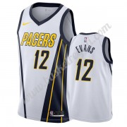 Maglie NBA Indiana Pacers 2019-20 Tyreke Evans 12# Bianca Earned Edition Canotte Swingman..