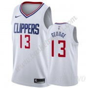 Canotte Basket Bambino Los Angeles Clippers 2019-20 Paul George 13# Bianca Association Edition Swing..