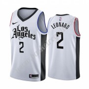 Maglie NBA Los Angeles Clippers 2019-20 Kawhi Leonard 2# Bianca City Edition Canotte Swingman..