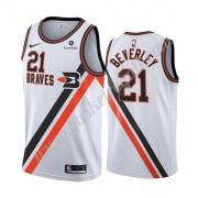Maglie NBA Los Angeles Clippers 2019-20 Patrick Beverley 21# Bianca Classics Edition Canotte Swingma..