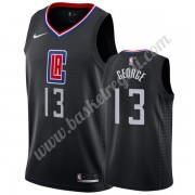 Maglie NBA Los Angeles Clippers 2019-20 Paul George 13# Nero Statement Edition Canotte Swingman..