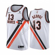 Maglie NBA Los Angeles Clippers 2019-20 Paul George 13# Bianca Classics Edition Canotte Swingman..
