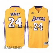 Maglie Basket NBA Los Angeles Lakers Bambino 2015-16 Kobe Bryant 24# Gold Home Swingman..