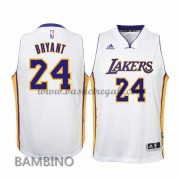 Maglie Basket NBA Los Angeles Lakers Bambino 2015-16 Kobe Bryant 24# White Home Swingman..